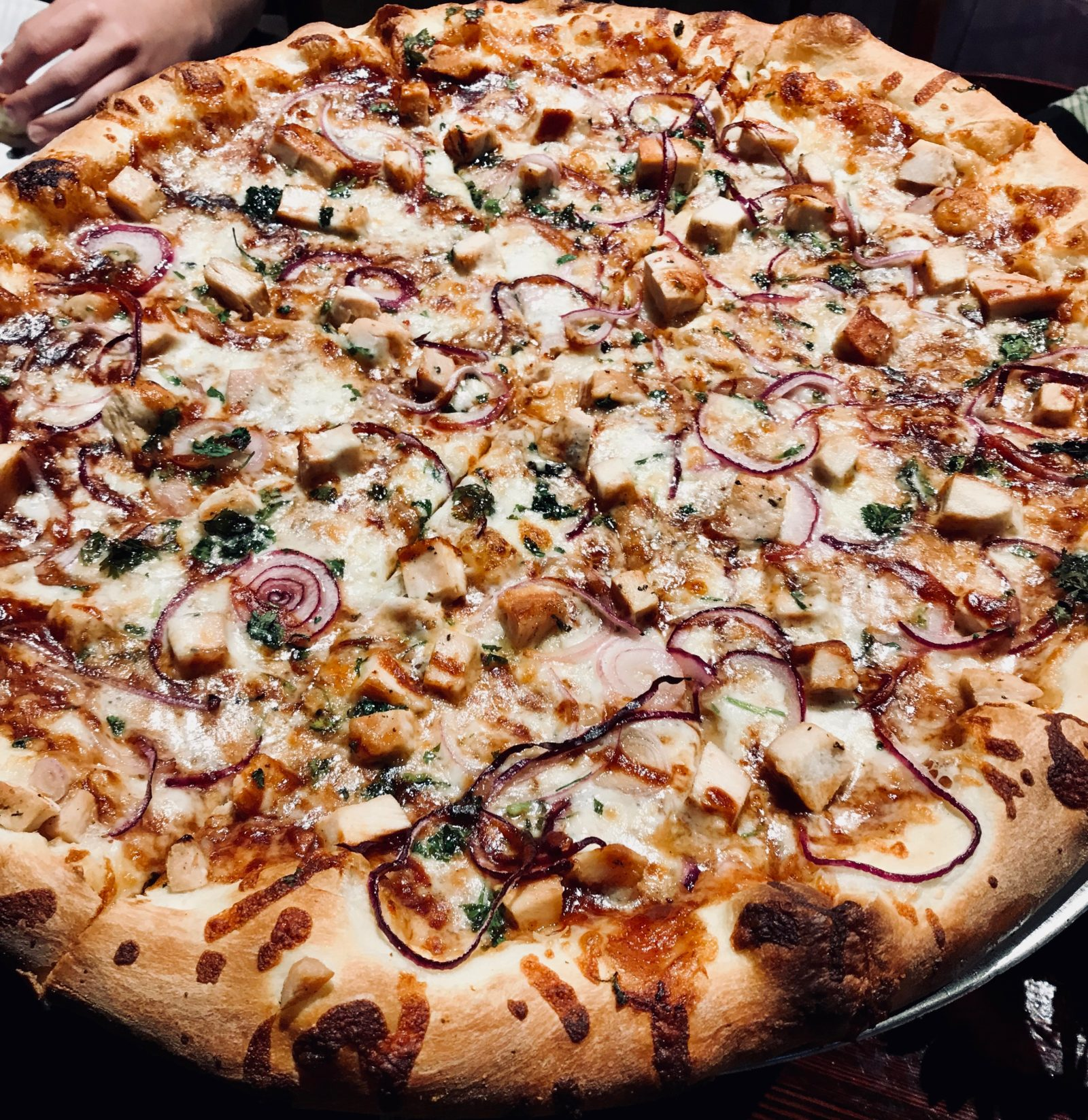 Pick of the Week - Giant Rustic Pizza - 20 inch Malibu Chicken pizza